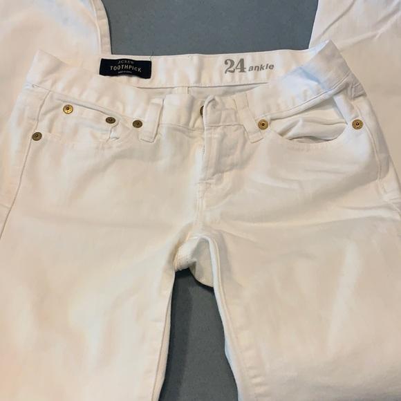 JCrew toothpick white jeans